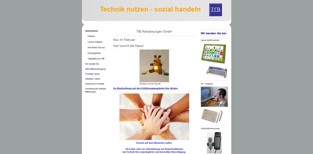 TfB-Team- PC- und Sprachhilfsmittel bei Erkrankung und Behinderung - TfB-Team für Spezial- und Ergotastaturen, Kommunikationshilfsmittel